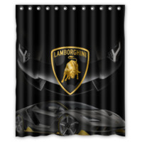 Luxury Lamborghini Car Automotive High Quality Shower Curtain Size 60x72 Inch