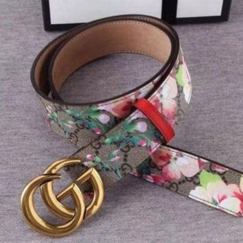 PEAPON GUCCI BELT AND BOX MEN WOMEN THE BELT A886