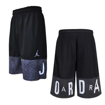 NikeJordan flying man burst pattern basketball loose board shorts men pants.