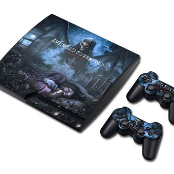 Avenged sevenfold sticker skin set for Ps3 slim