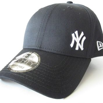 New Era NY Flawless 9Forty Hat Mens Womens Black White Baseball Cap 11277771