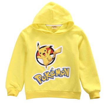 Pokemon Go Kids Girls Boys Sweatshirt Hoodies Jacket Coat Outerwear Tops Clothes