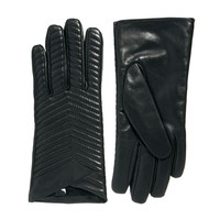 ASOS Leather Quilted Gloves