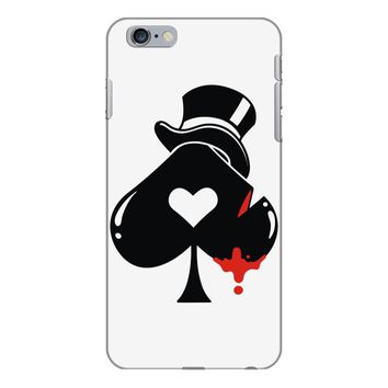 poker hat ace of spades iPhone 6 Plus/6s Plus Case