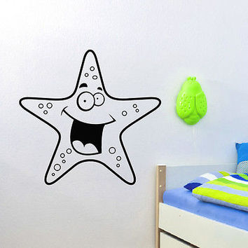 WALL DECAL VINYL STICKER ANIMAL STARFISH OCEAN SEA BABY ROOM NURSERY DECOR SB449