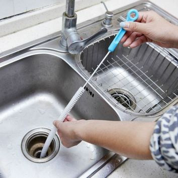 Brush Cleaner Sewer Block Household Kitchen Accessories Creative Nylon Hand Makeup Sink Dredge Pipe Clean 2016 Modern Fashion