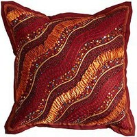 Pier 1 Imports - Product Detail - Ribbon & Beaded Waves Pillow