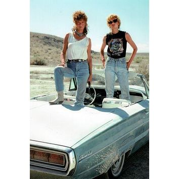 Thelma And Louise Movie poster Metal Sign Wall Art 8in x 12in