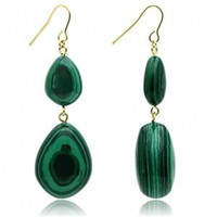 Sharon's Emerald Green Gold Plated Fashion Earrings
