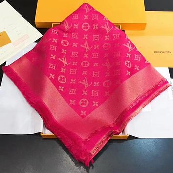 Louis Vuitton Women Scarf Shawl Silk Scarf