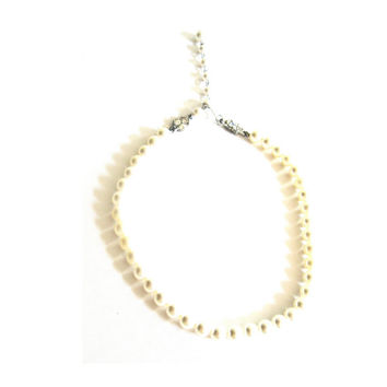 Faux Pearl Short Choker Necklace Small