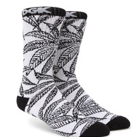 DGK Cannabis Cup Crew Socks - Mens Socks - White - One