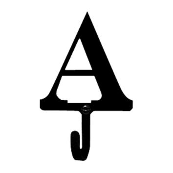 Wrought Iron Letter A Wall Hook Small
