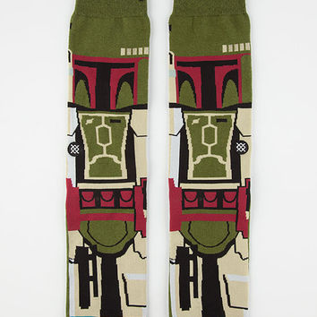 Stance X Star Wars Boba Fett Mens Socks Olive  In Sizes