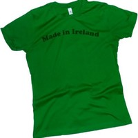 Made in Ireland -- St. Patricks Day Crop Sleeve Fitted Juniors T-Shirt
