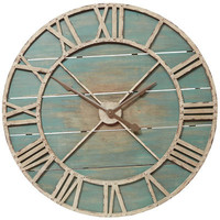 Rustic Teal Wall Clock