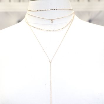 Long Layered Dainty Necklace