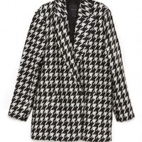 Theory Danvey Coat In Black And White | The Dreslyn