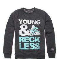 Young and Reckless Blocked Out Crew Fleece at PacSun.com