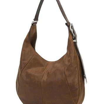 ICIKAB3 Frye Jacqui Hobo Brown Leather Bag