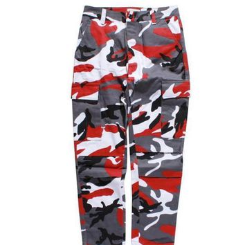 Flying Ninet Latest Top Camouflage Camo Kanye West & Fnty Oversized Men Joggers Pants Hip Hop Justin Bieber Pink Purple Fashion Pants S Xxl