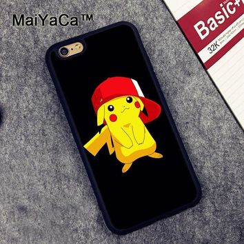 MaiYaCa s Pocket Monsters Slim Rubber Back Cover Cover Fundas for iPhone 6 6S Phone Cases Protective Case for iPhone 6sKawaii Pokemon go  AT_89_9