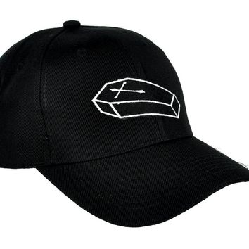 Coffin Casket Hat Baseball Cap Occult Clothing