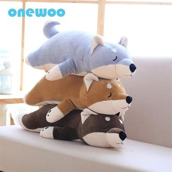 Lovely Lying Shiba Inu Plush Akita Dog Stuffed Dog Pet Plush Toys Dolls Cute Cartoon Dog Toys Children Graduation Appease Gifts