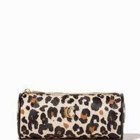 Leopard Cylinder Cosmetic Bag | Fashion Accessories | charming charlie