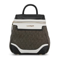 Laura Biagiotti Black Padded Leather Backpack