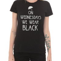 American Horror Story: Coven On Wednesdays We Wear Black Girls T-Shirt