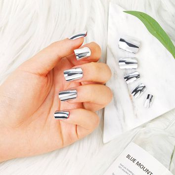 Mirror Fake Nail Set 24pack