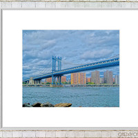 View of the Bridge - Manhattan - NYC Impressionistic 8x10 Fine Art Photography Print