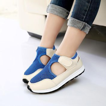 Girls Outdoors Shoes Summer Air Mesh Sandals Breathable