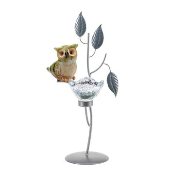 Adorable Owl Tealight Candle Holder