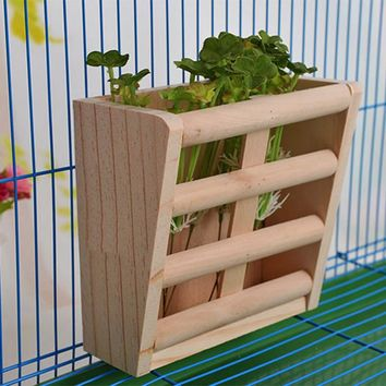 Wooden Hay Feeder Frame for a Small Pet Guinea Pig |  Hay Container | Feeder Cage Accessories