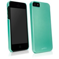 iPhone 5 Case, BoxWave® [Pearl Minimus Case] Glossy Pearlized Pastel Hard Shell Cover for Apple iPhone 5, 5s - Mint Green