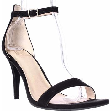 MG35 Blaire Ankle Strap Dress Sandals, Black, 8 W US