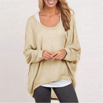 Sweater Women's Fashion Knit Tops T-shirts [6331543364]