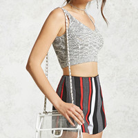 Clear Vinyl Crossbody Chain Bag