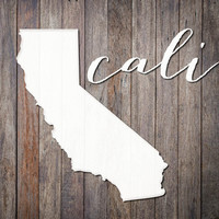 Cali love print. California State Print. Rustic wood print. Apartment wall art. L.A. Los Angeles. Gifts for teens. SoCal Country Home decor.