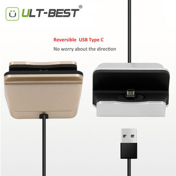ULT-Best USB Type C Cable USB C Charger Dock Type-C Docking for  zuk z2 meizu pro 6 honor 8 s7 edge oneplus 3 xiaomi mi4c  mi5