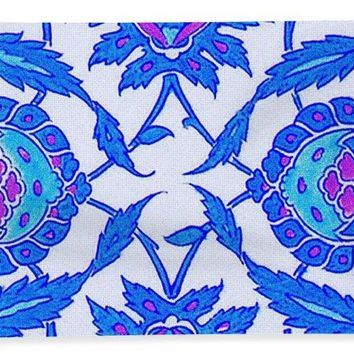 An Ottoman Iznik Style Floral Design Pottery Polychrome, By Adam Asar, No 34 - Bath Towel
