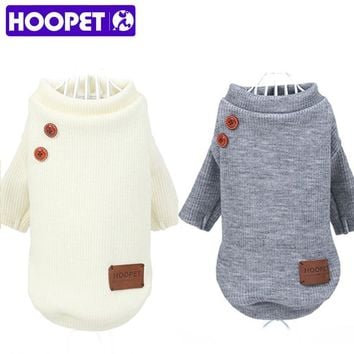 HOOPET New Pet Coat Dog Jacket Summer Spring Clothes Puppy Cat Sweater Clothing Coat Apparel