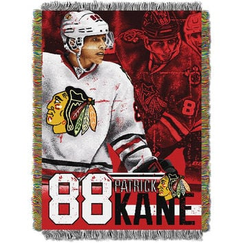 Patrick Kane #88 Chicago Blackhawks NHL Woven Tapestry Throw (48x60)