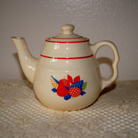 Universal Potteries Calico Fruit Small Teapot