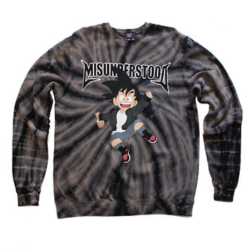 Misunderstood Goku Black Tie Dye Sweatshirt - Online Only - 2 Left!