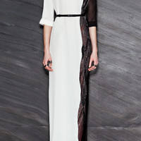 Crepe Silk And Mousseline And Embroidery Long Dress by Maxime Simoens - Moda Operandi