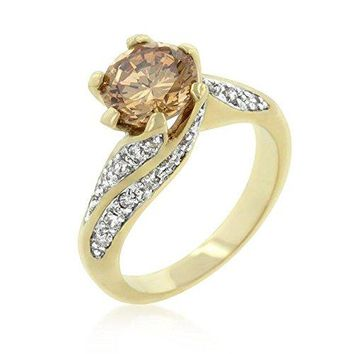 WildKlass Champagne Twist Engagement Ring