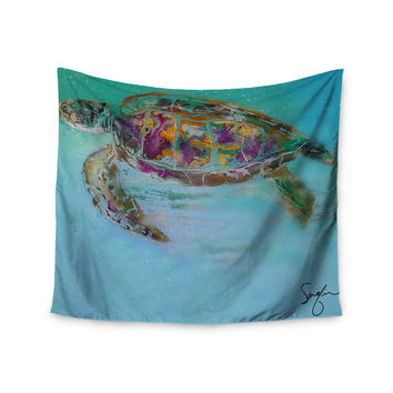 "Josh Serafin ""Mommy"" Turtle Wall Tapestry"